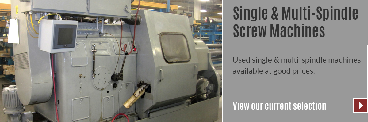 View our selection of Single & Multi-Spindle Screw Machines